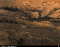 Centre de Valles Marineris en 3D