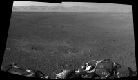 Panorama du rempart du cratère Gale - Sol 2