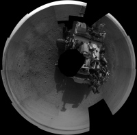 Le robot Curiosity - projection polaire - Sol 2