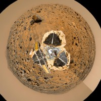 Vue fish-eye de Mars Pathfinder