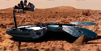 Beagle 2 à la surface de Mars (ESA)